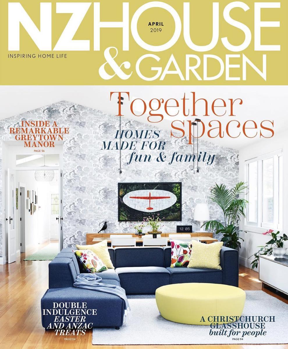 NZ HOUSE & GARDEN APRIL 2019