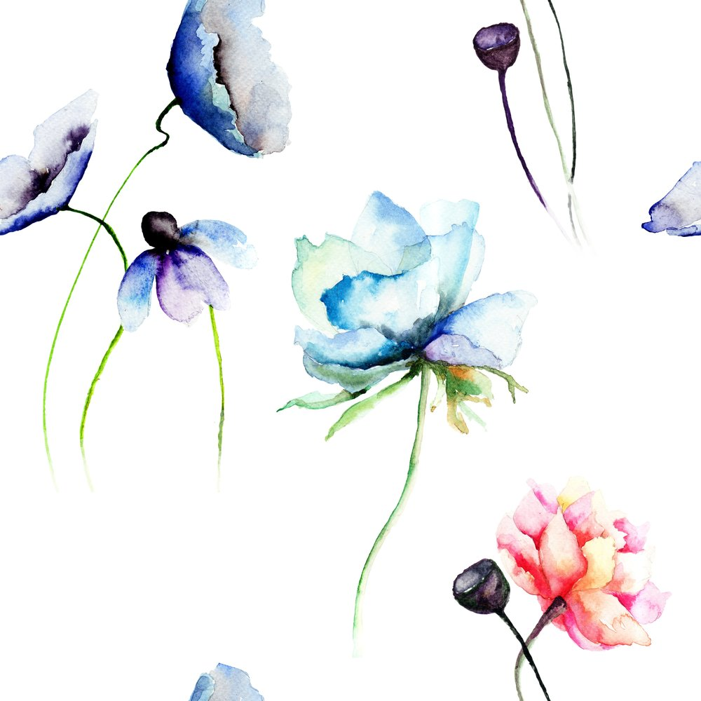 Watercolour Painting Florals