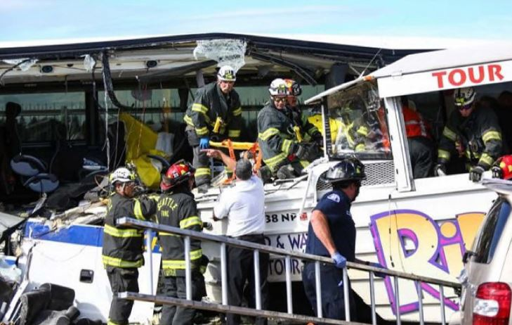 Some victims had to be extricated from the wreckage—trapped under bent metal seats. Firefighters used sawzalls and other devices to get these passengers to safety.