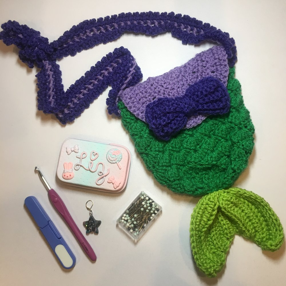 Life Is The Bubbles Bag Free Child Sized Crochet Purse Pattern