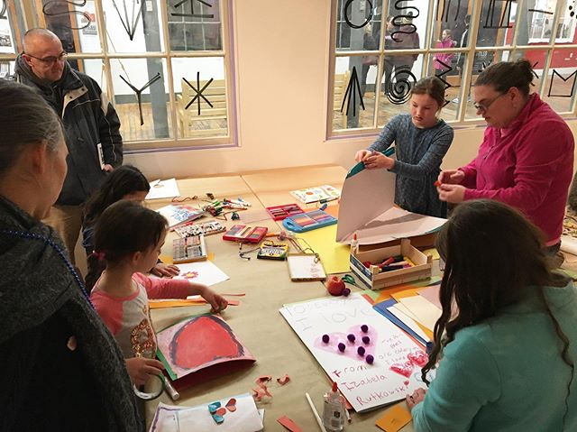 Making valentines, reading books, digging in the sand @fortfuturespace in the MAP space today @eastworks_community Amble on over during your #winterfest explorations! #easthamptonma