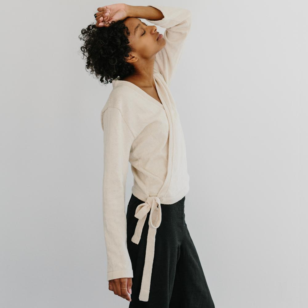 The Knit Wrap Top | $85