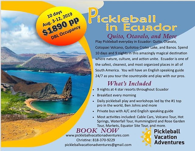 Your next pickleball vacation adventure! 😁 ✈️