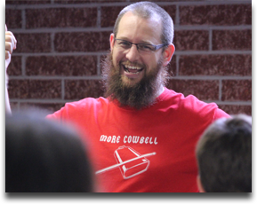 Quentin DeWitt - Instrumental music teacher at Rocky Mountain High School in Meridian, ID and freelance percussionist. His area of expertise is teaching musical concepts through physical movement.