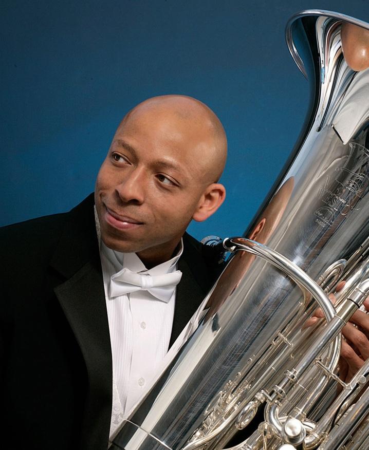 JáTtik Clark, tuba - Principal Tuba, Oregon Symphony; Adjunct Professor, Portland State UniversityLearn more about JáTtik ➝