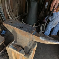 The blacksmith's anvil is the heart of  his shop