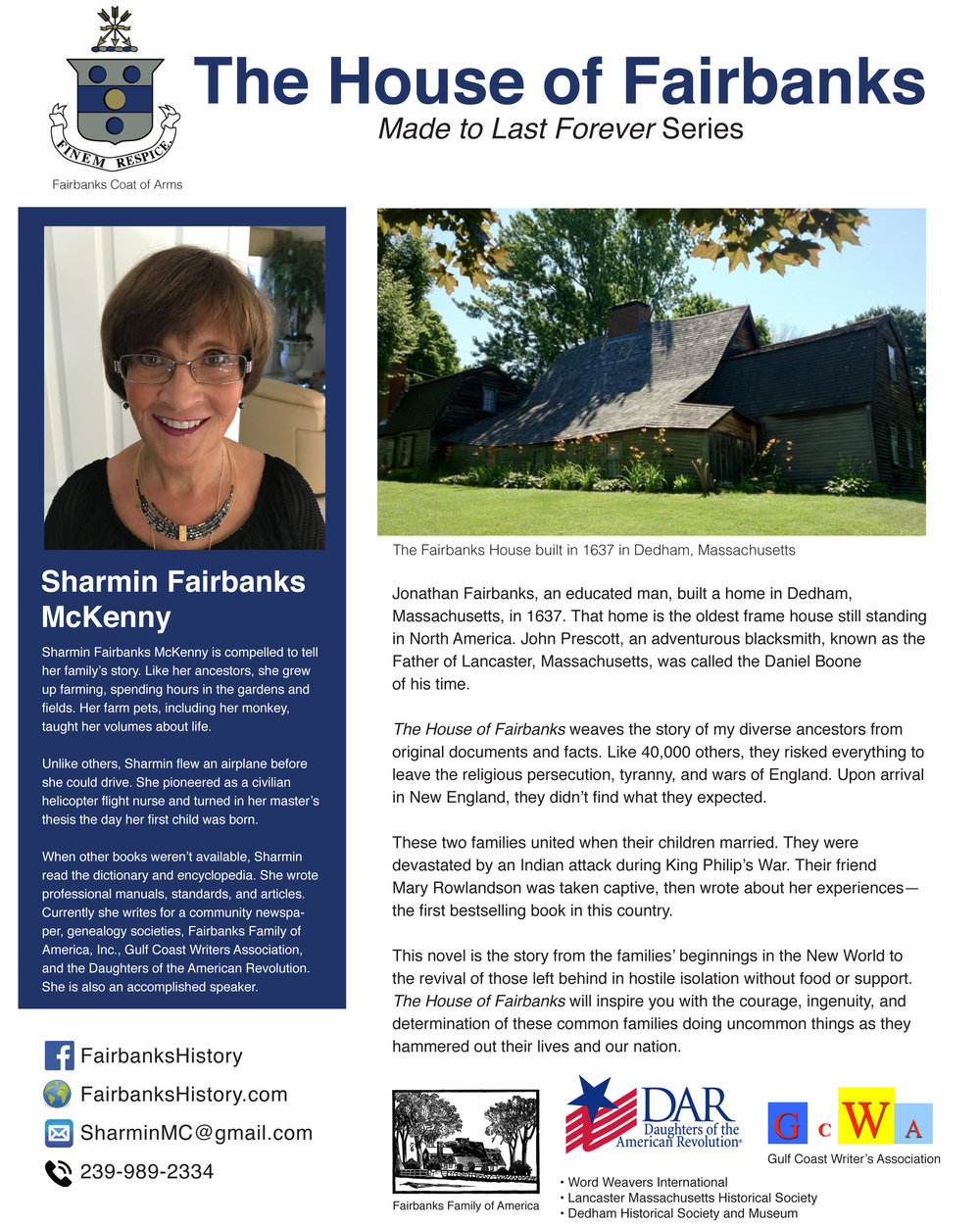 FairbankHistory Sharmin Fairbanks McKenny One Page