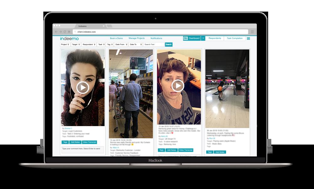 mobile ethnography indeemo dashboard