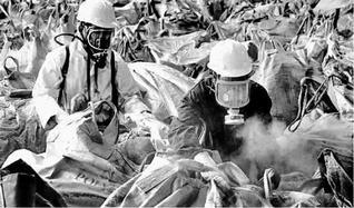 Noch heute kommen rund 1000 Menschen pro Tag in das Regierungskrankenhaus, um sich wegen Folgen der Katastrophe behandeln zu lassen. -