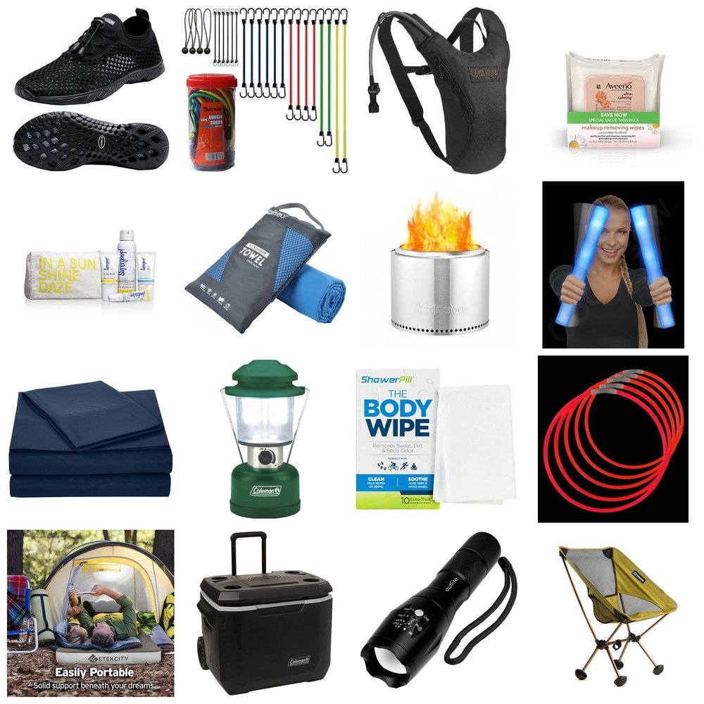 Camping Essentials - All three of us are definitely not campers, but we feel a whole lot better about it when we have the right gear. Here's our list of essentials.