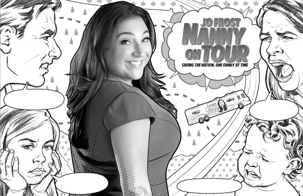 Jo Frost: Nanny on Tour key art sketch