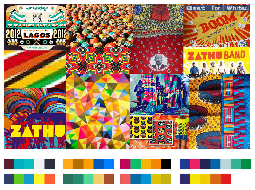 Colour research moodboard