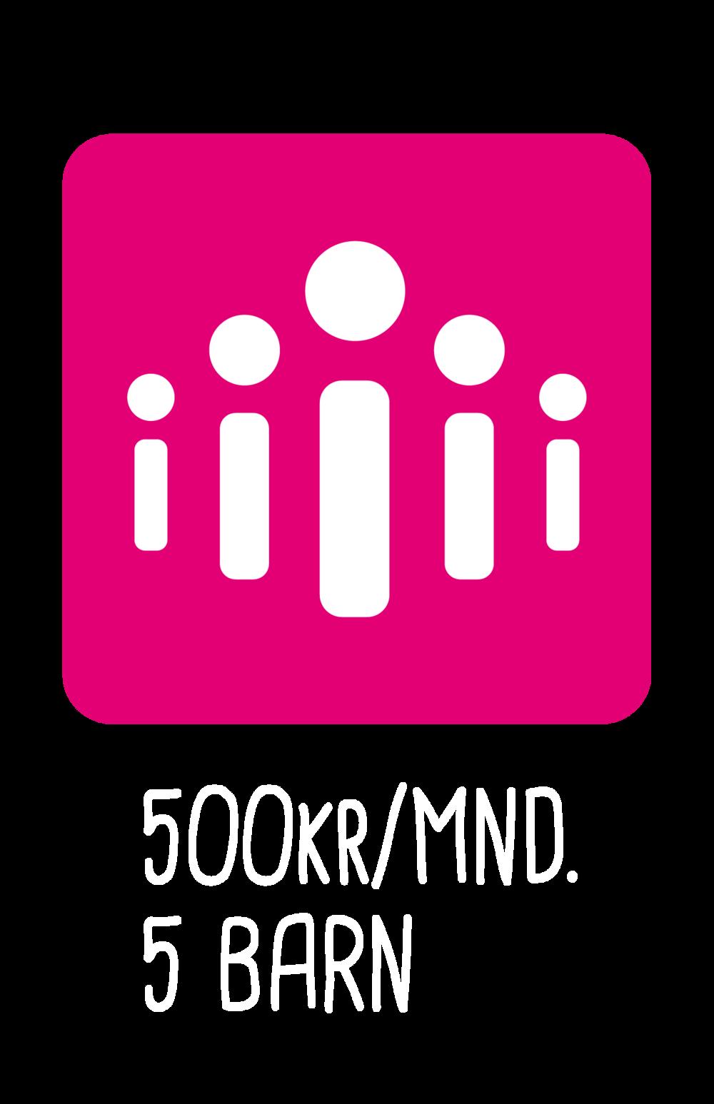 Donate 500KR/MND. 5 Barn