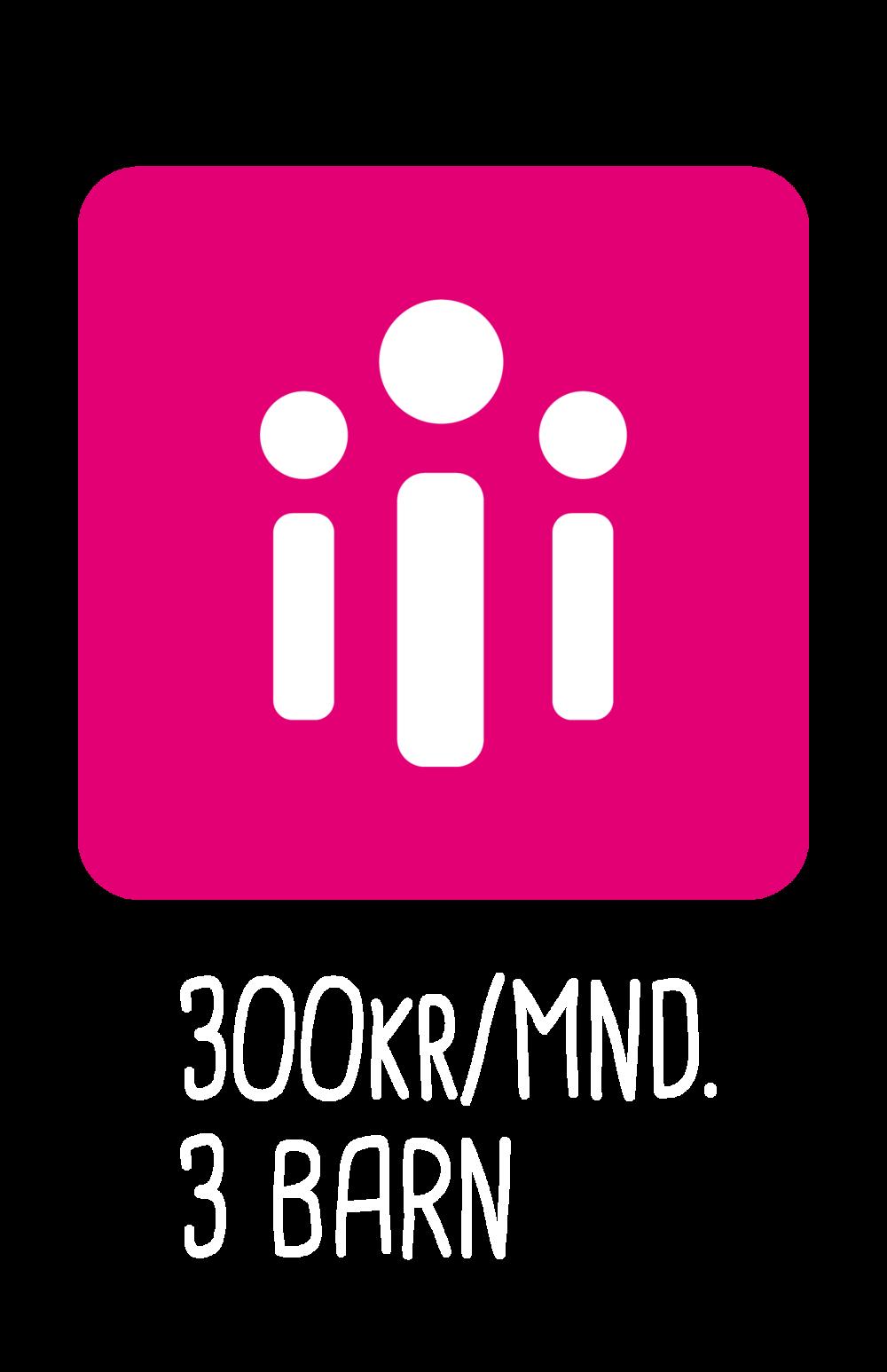 Donate 300KR/MND. 3 Barn