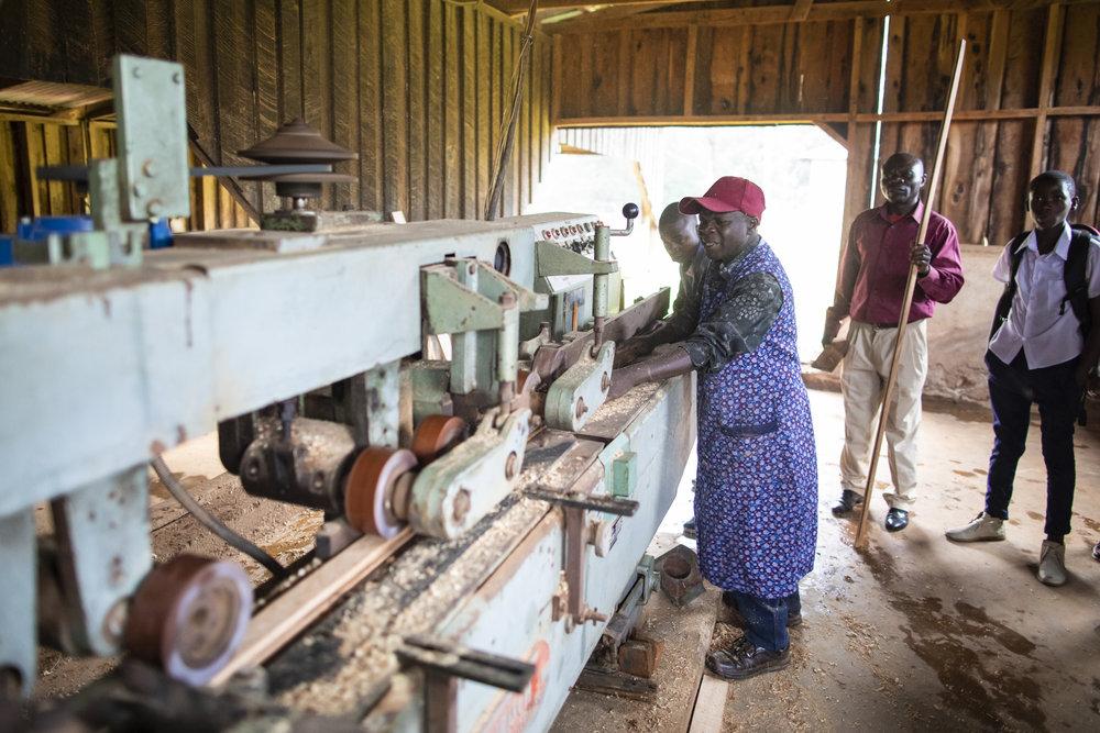 Maskinen er i dag i full drift og brukes i elevundervisning