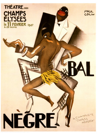 Art Deco Poster advertising the 'Bal Negre' by Paul Colin