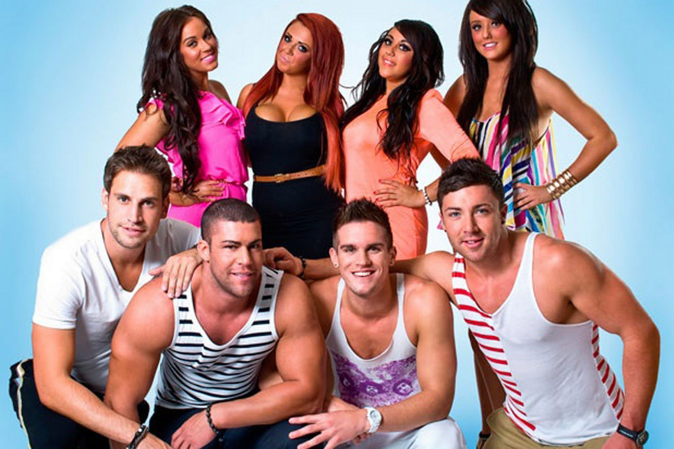 The cast of Geordie Shore...