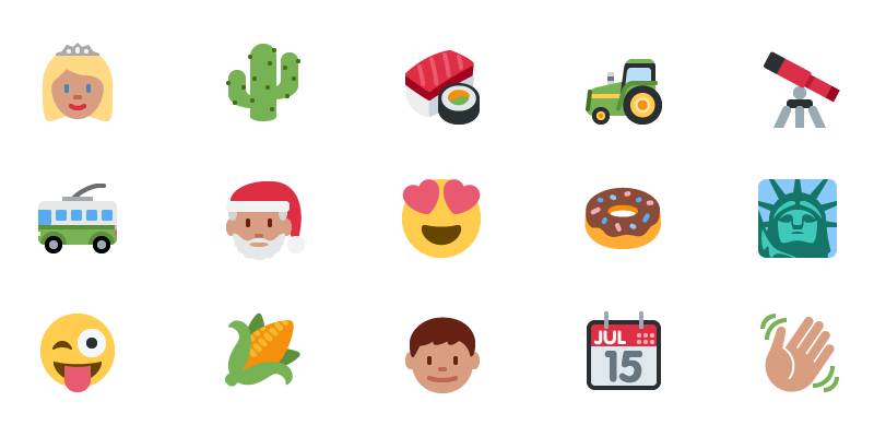 A handful of The Iconfactory's  emoji suite for Twitter