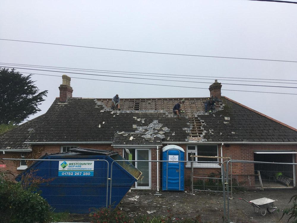 Stripping Roof Tiles (September 12th 2018)