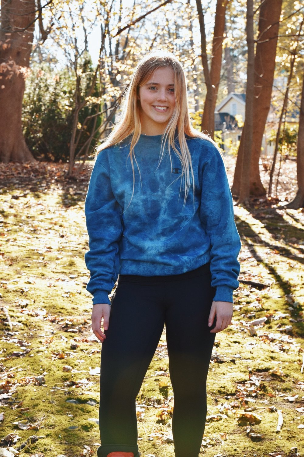 Taylor P. - Hello! My name is Taylor. I'm a sophomore. I love the beach and the outdoors. Indigo is awesome because each piece of clothing looks like an ocean. You should totally buy some of these sick clothes.