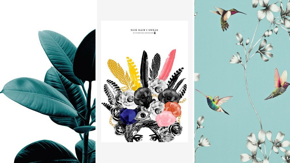 Reklamelinks:  Plakat m/ blade ,  Plakat med farver   Tapet