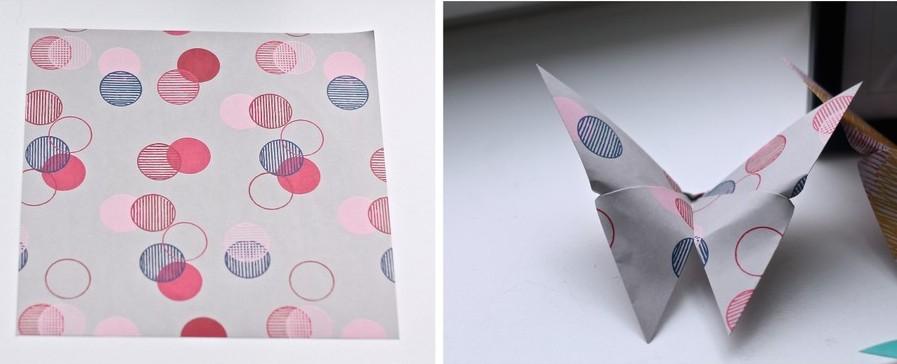 fold sommerfugle i papir