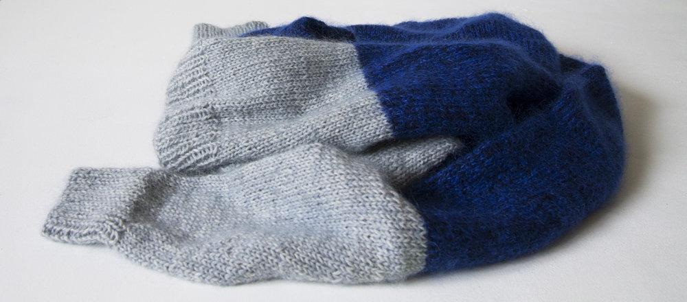 strikket bluse