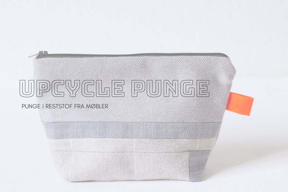 Upcycle punge - syet i stofrester fra møbler