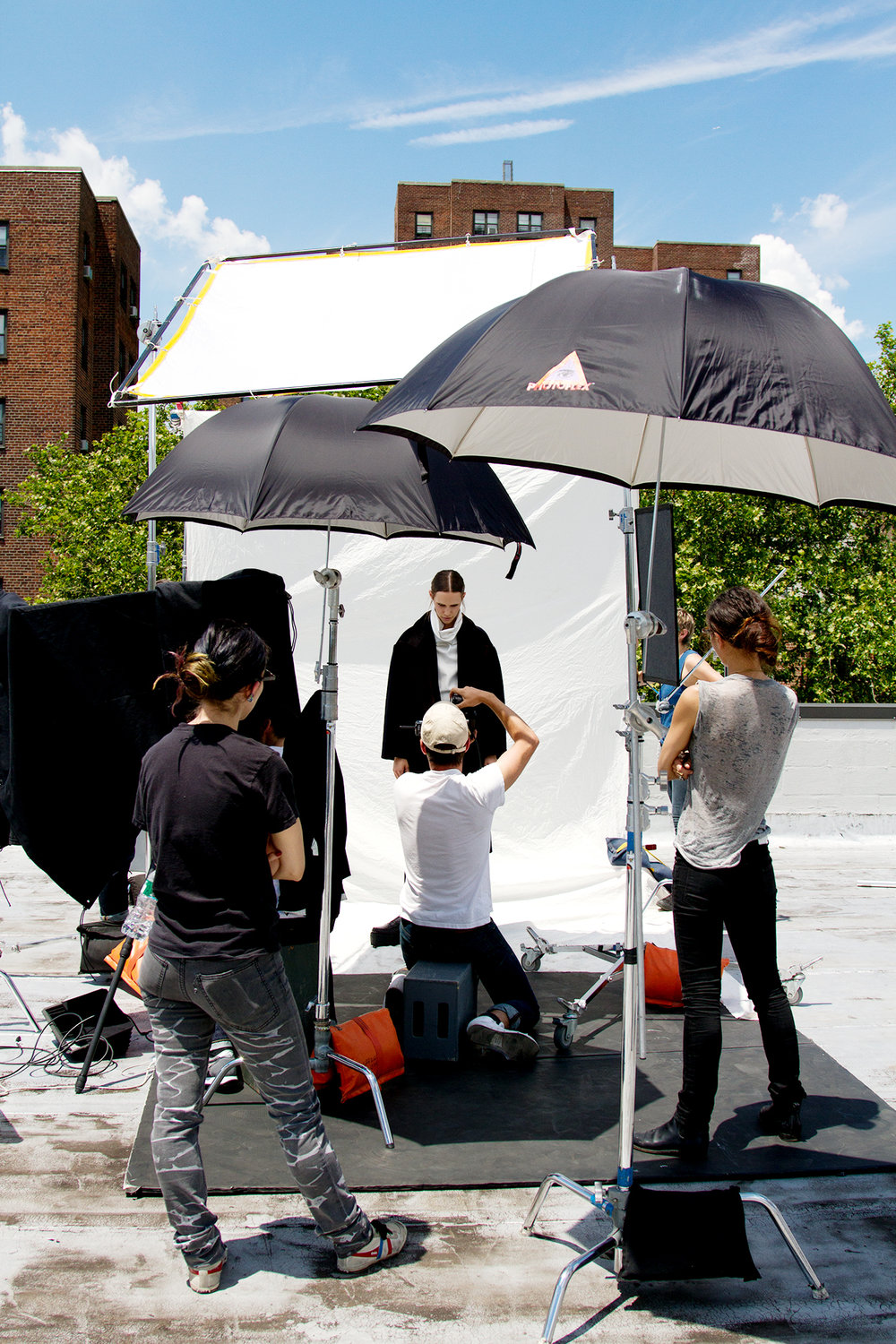 Rooftop 50ft x 50ft with Shoot Platforms for fashion, editorial, commercial and more - Brooklyn Photo Video Film Rental Studio NYC