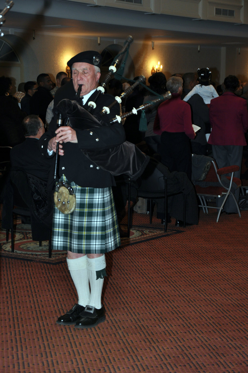 Bagpipes at event