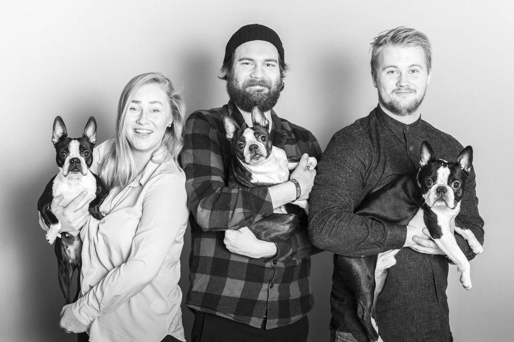 Vi tok en hel haug av familieportretter!