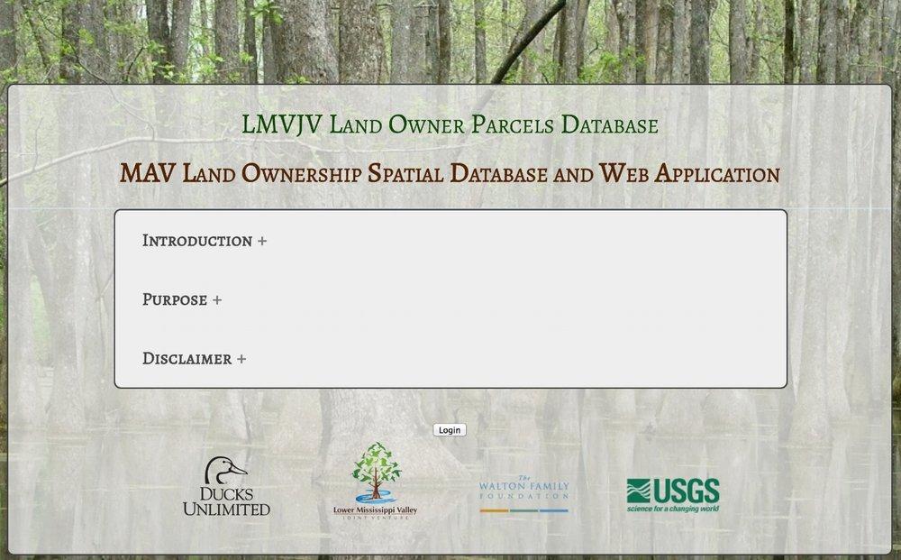 Land Ownership DB login.jpg