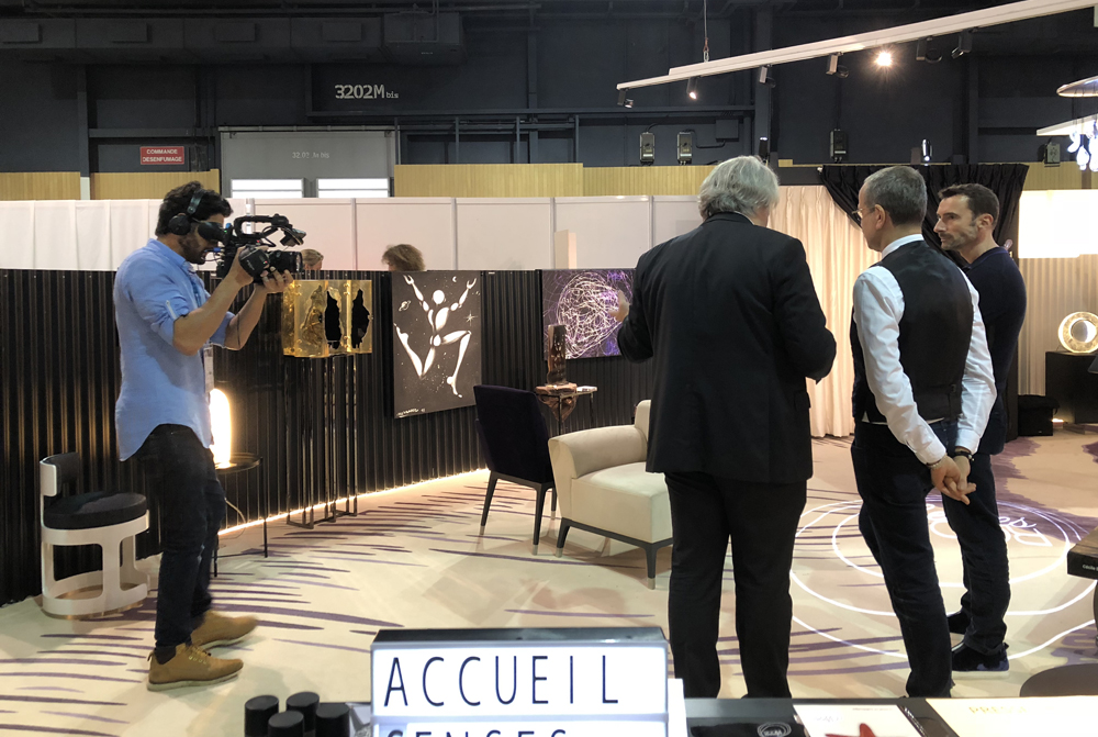 Senses Room : Télé matin filme ! Action en présence des Architectes d'intérieur - Décorateurs Marc Hertrich et Nicolas Adnet