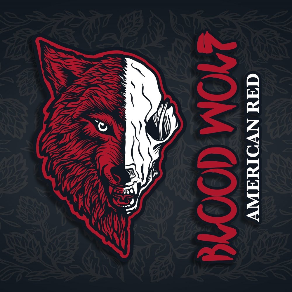 BLOOD WOLF AMERICAN RED 4.8%   Toasted caramel, sweet sticky toffee and bitter richness from intensely roasted malt and subtle spiciness of rye. Zesty pithiness and robust resin of new world hops. Bold and upfront with a twisted complexity.