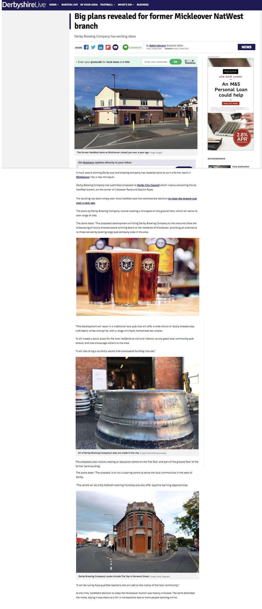 Derby Telegraph 15.11.18.jpg