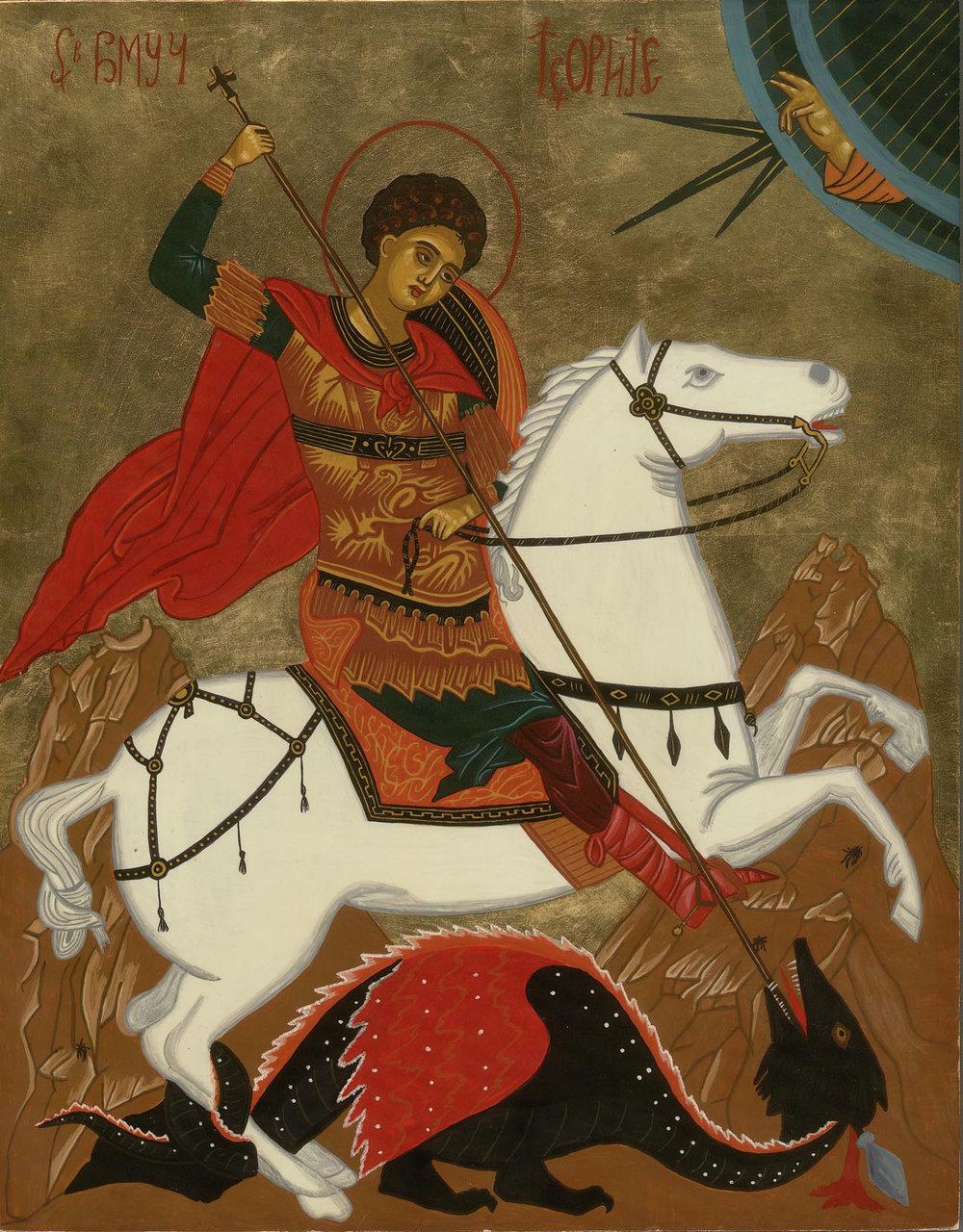 Saint George slays the Dragon.