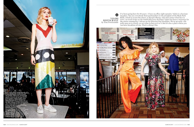 Chicago Magazine's Diners, Dresses & Dives fashion shoot, shot at Valois