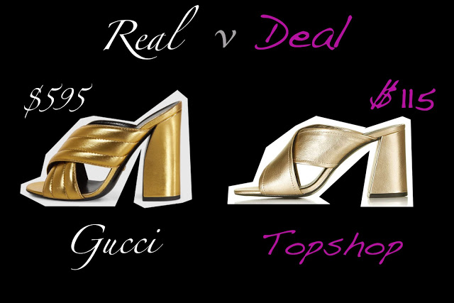 real versus deal gucci metallic crossover sandals versus topshop