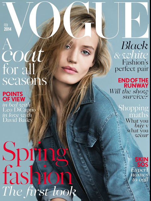 Georgia May Jagger on the cover of British Vogue Feb 2014 issue