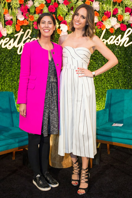 TV host and fashion journalist, Louise Roe, interviewed by Jessica Moazami aka Fashion Junkie  at the Westfiield Old Orchasrd Fash Bash for fashion blog