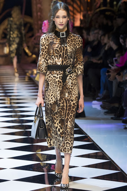 FASHION AND BEAUTY'S A-Z, S is for Spots leopard print a big fall/winter trend including this  Dolce & Gabbana dress