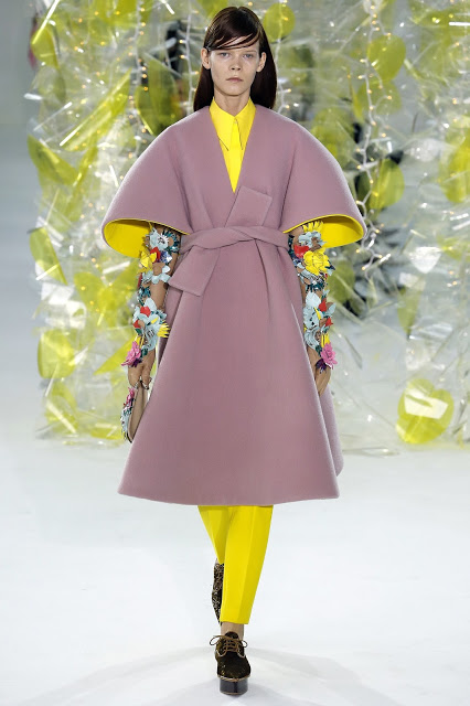 Fashion and Beauty's A-Z, Y is for Yellow paired with pink including this Delpozo look, a big trend for the winter season