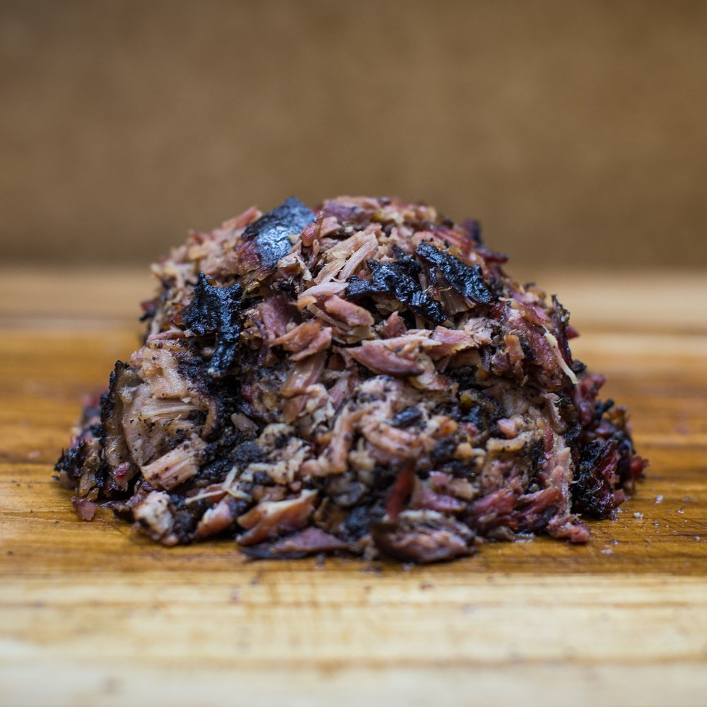 Carolina Pulled Pork (lb): $ 15.00  1 lb feeds 3-4 people. Sauces included.