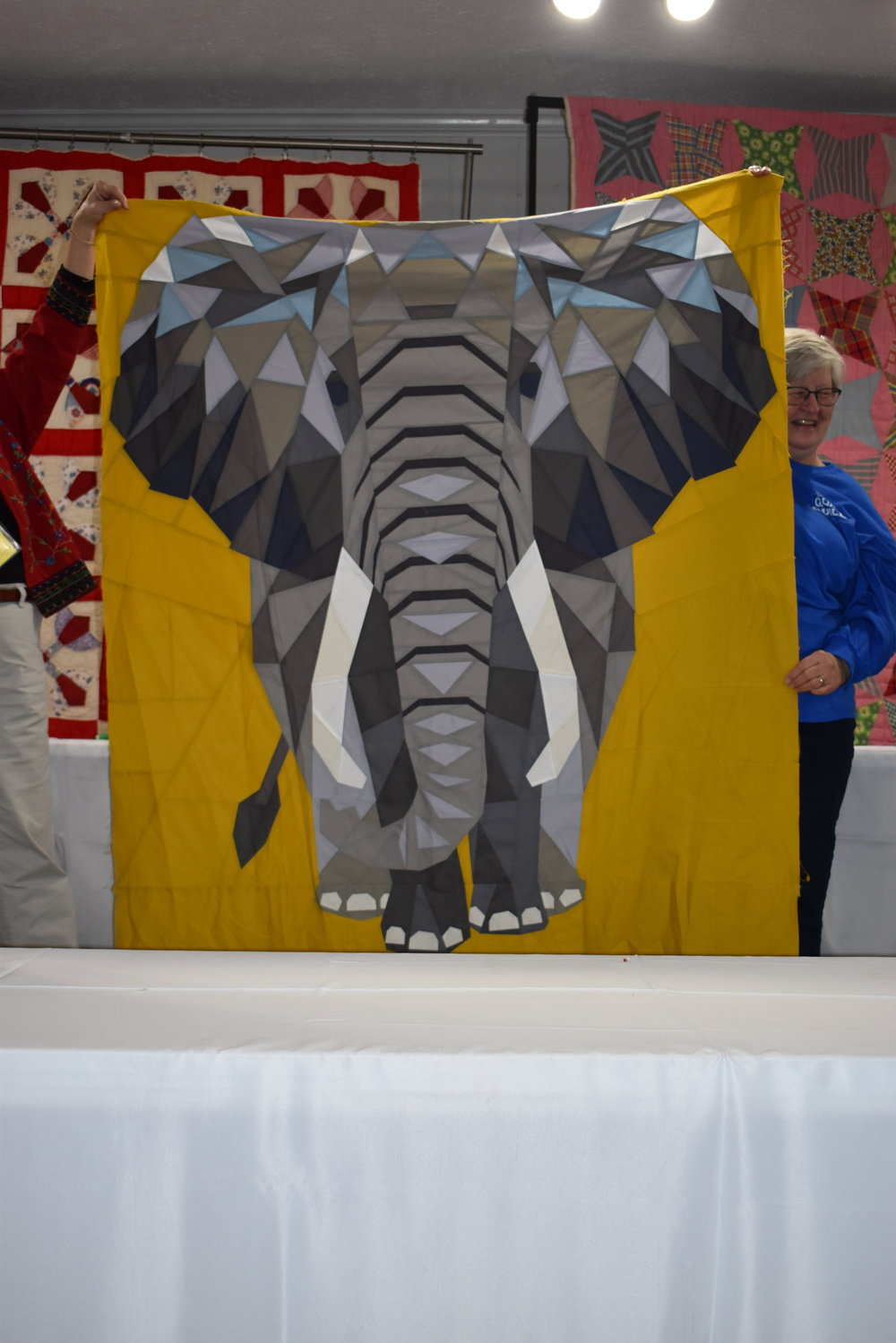 - Francine also showed her rendition of Violet Crafts' Elephant Abstraction Quilt.