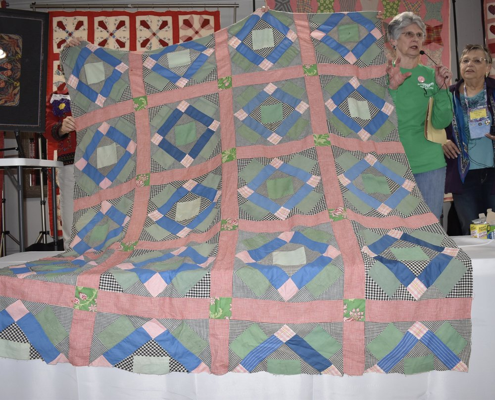 - Jenny Reed showed an antique quilt top called Jack in the Pulpit and shared a letter Martha Skelton wrote about it.