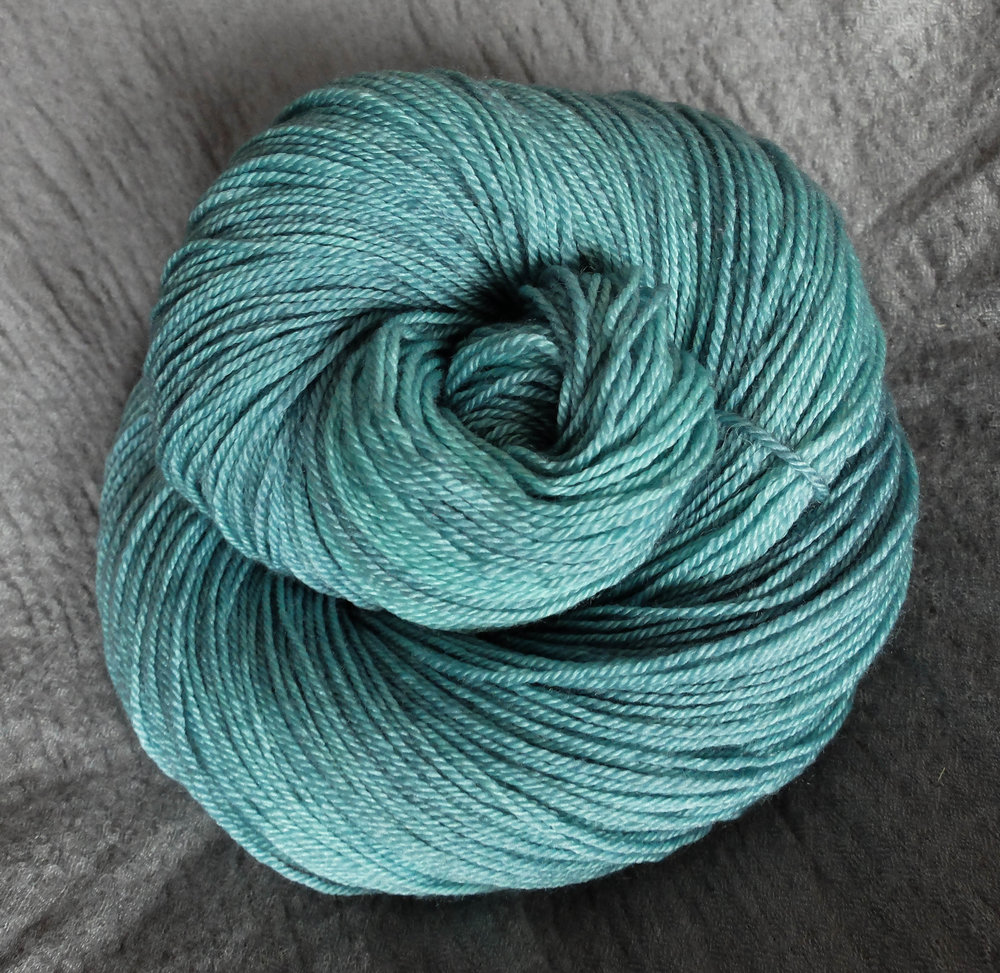 Volva shown on Fingering - BFL/Silk/Cashmere