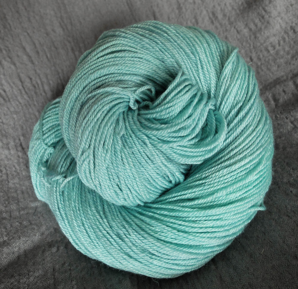 Fimbulwinter shown on Fingering - BFL/Silk/Cashmere