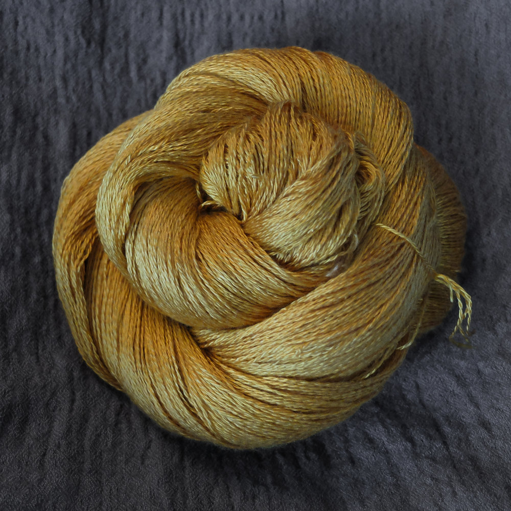 Lace - Mulberry Silk - 100 % Mulberry silk800 meters per 100 g skeinThis base is pure luxury. 100% grade A mulberry silk. This yarn is perfect for shawls or for garments that use the way silk drapes to a great effect. Just one skein gives you enough yarn for a medium sized shawl.