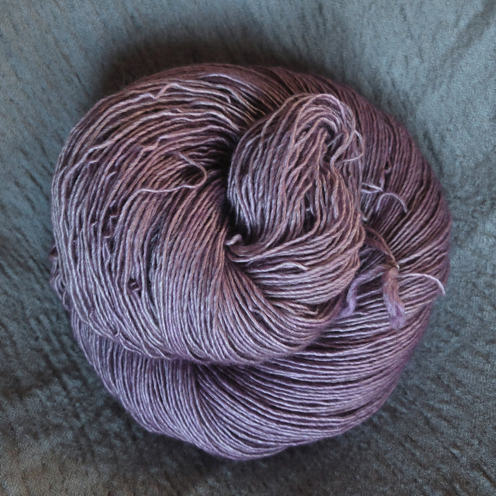 Bergtatt shown on Singles- Merino/Silk/Yak