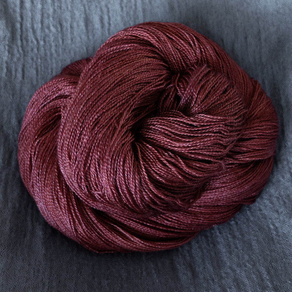 Ratatosk shown on Lace - BFL/Silk